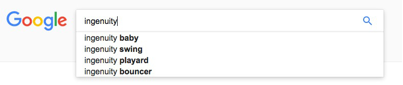 Google search suggestions for Ingenuity