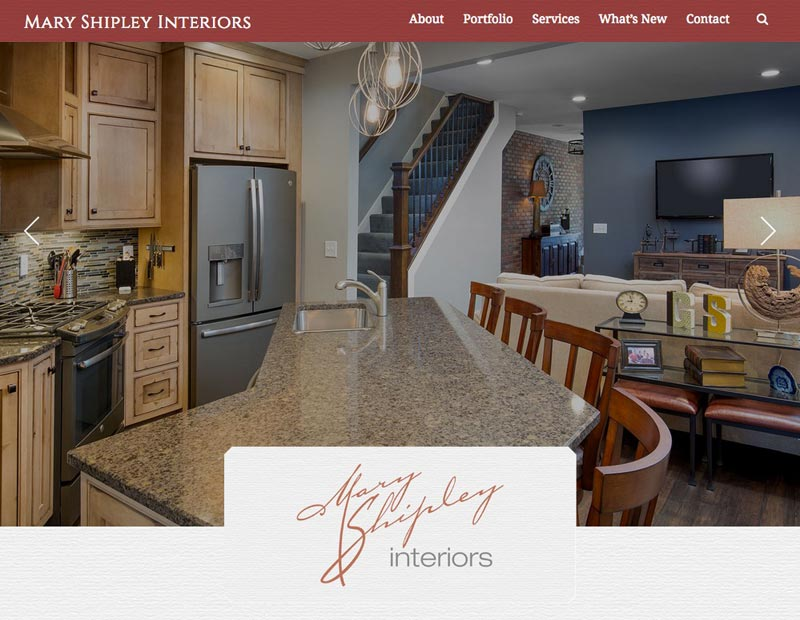 mary shipley website homepage created by Columbus website design firm Sevell.jpg