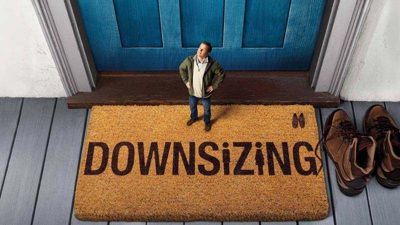 Matt Damon's movie poster for Downsizing