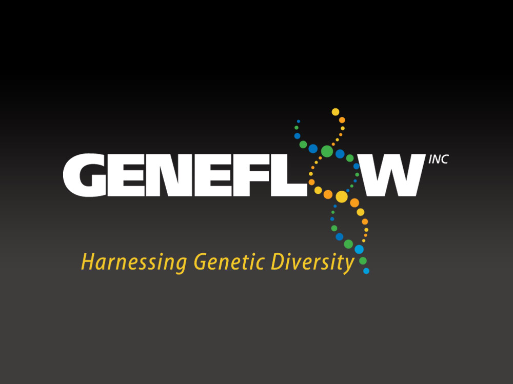 logo for genetic modification software using a helix as the O