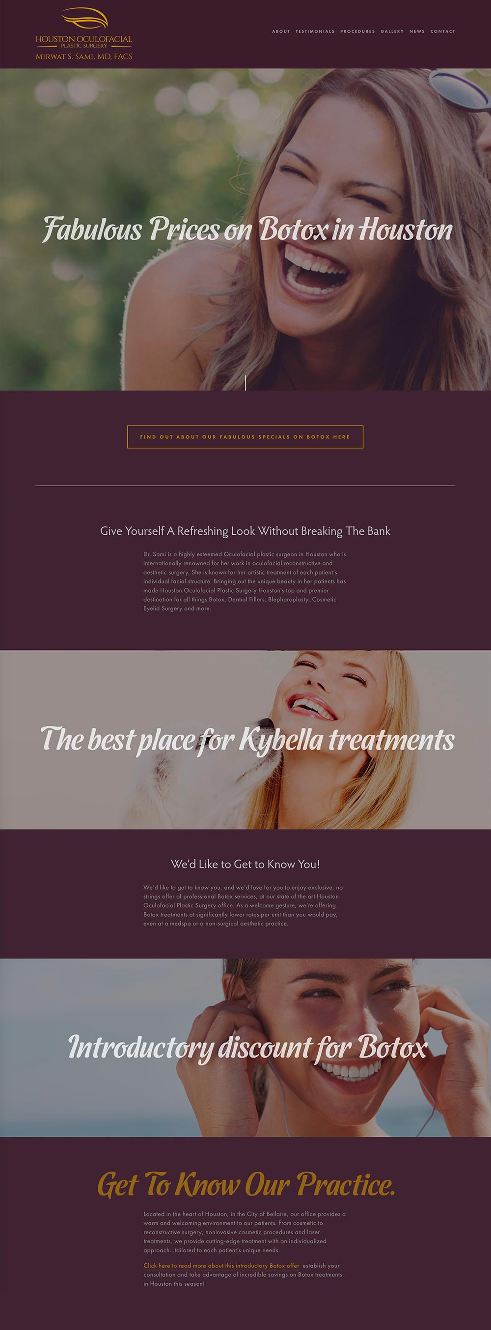 Houston surgeon injectibles website designed by Columbus web design group Sevell.jpg