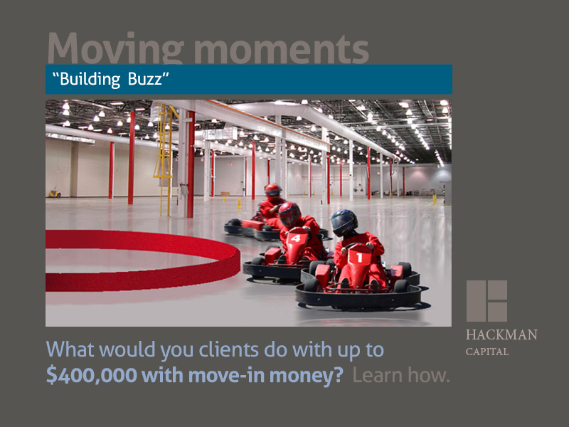 Go carts inside a warehouse as direct marketing examples