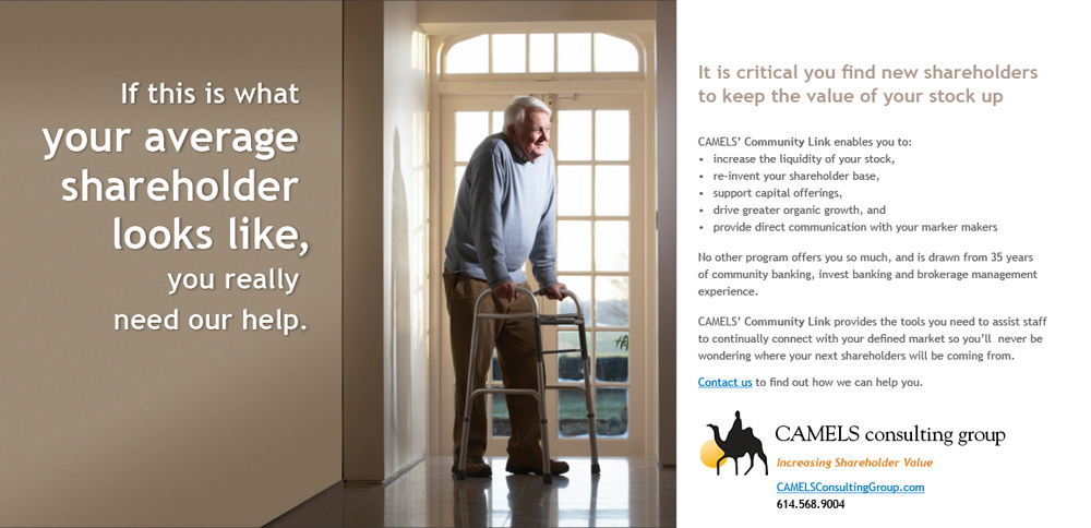 old man using walker at home as a direct marketing example