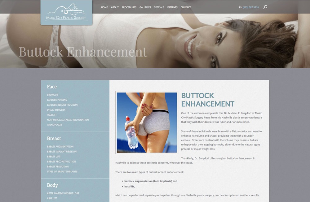 Plastic Surgeon web design | Columbus Ohio web design