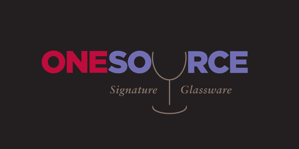 logotype with the letter U being tehtop half of a wine glass