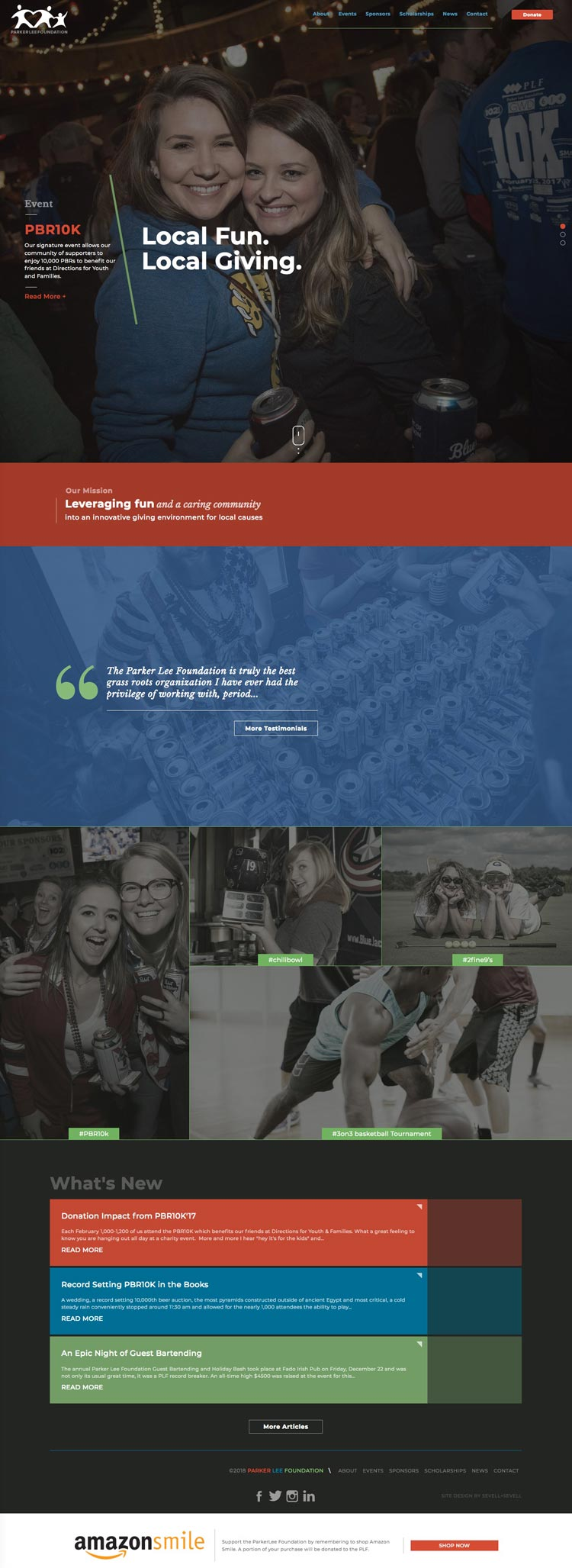 Parker Lee homepage by Columbus SEO agency and website design firm Sevell