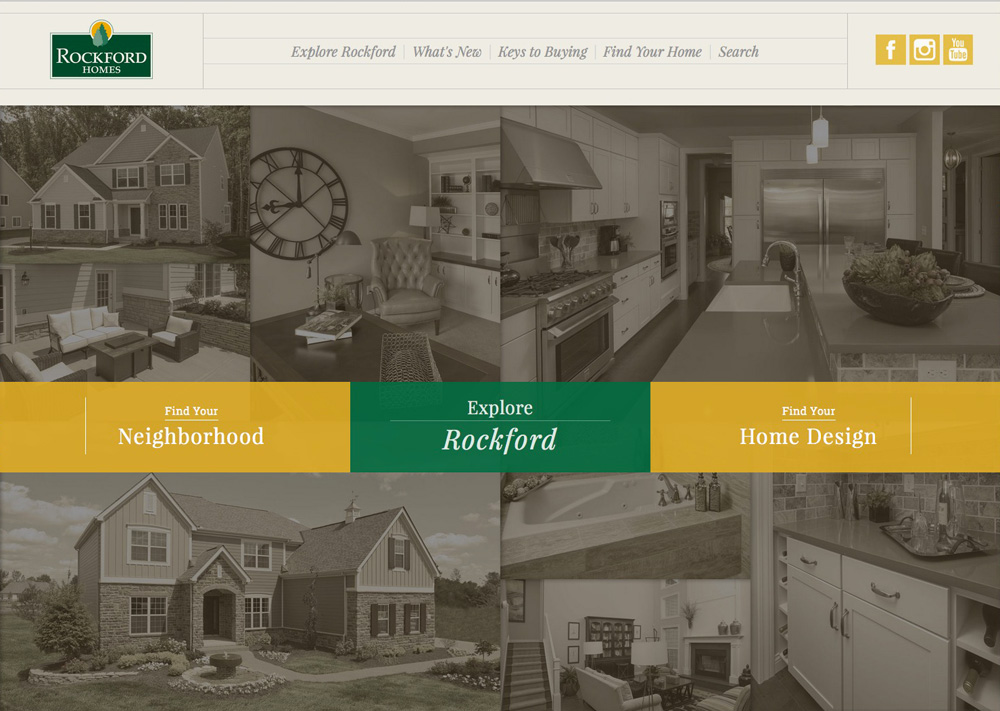Rockford Homes' new website by Columbus web design firm S+S