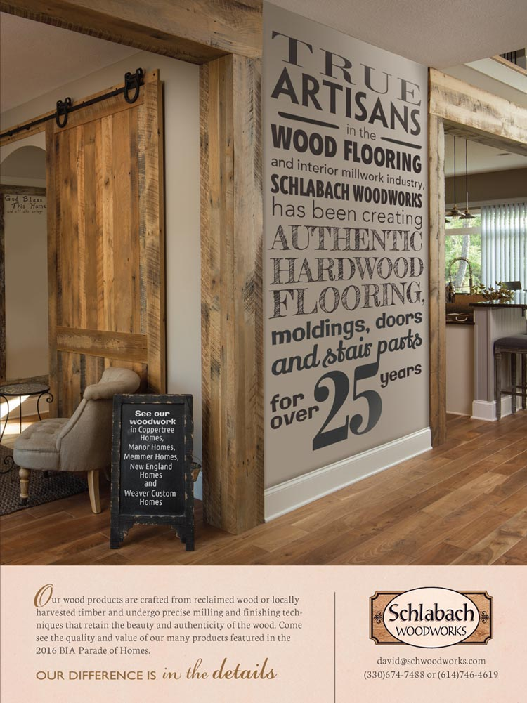 Web designer in Columbus showing off woodworking ad
