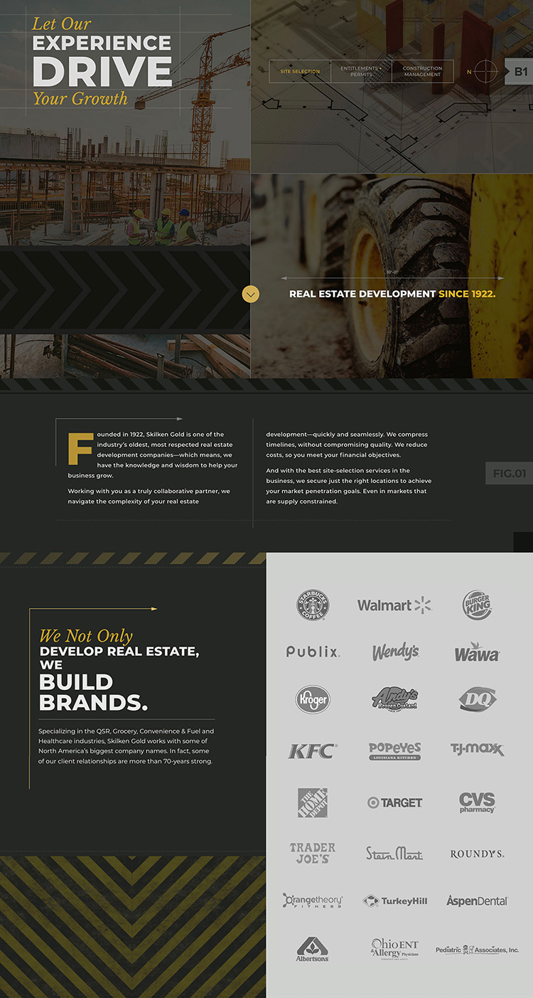 skilken gold homepage by columbus website design firm sevell