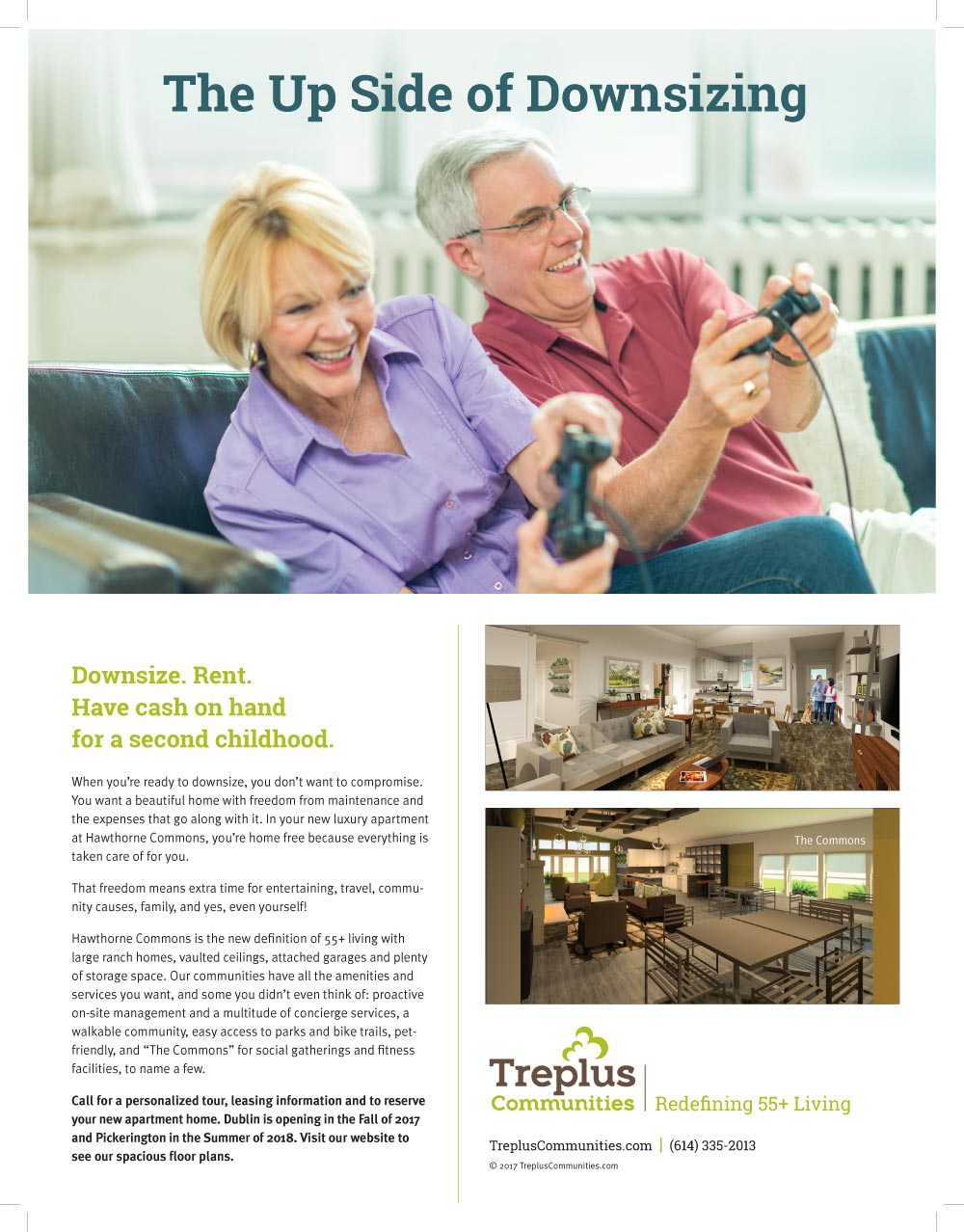 retired couple playing video game on couch by SEO agency and website design firm Sevell
