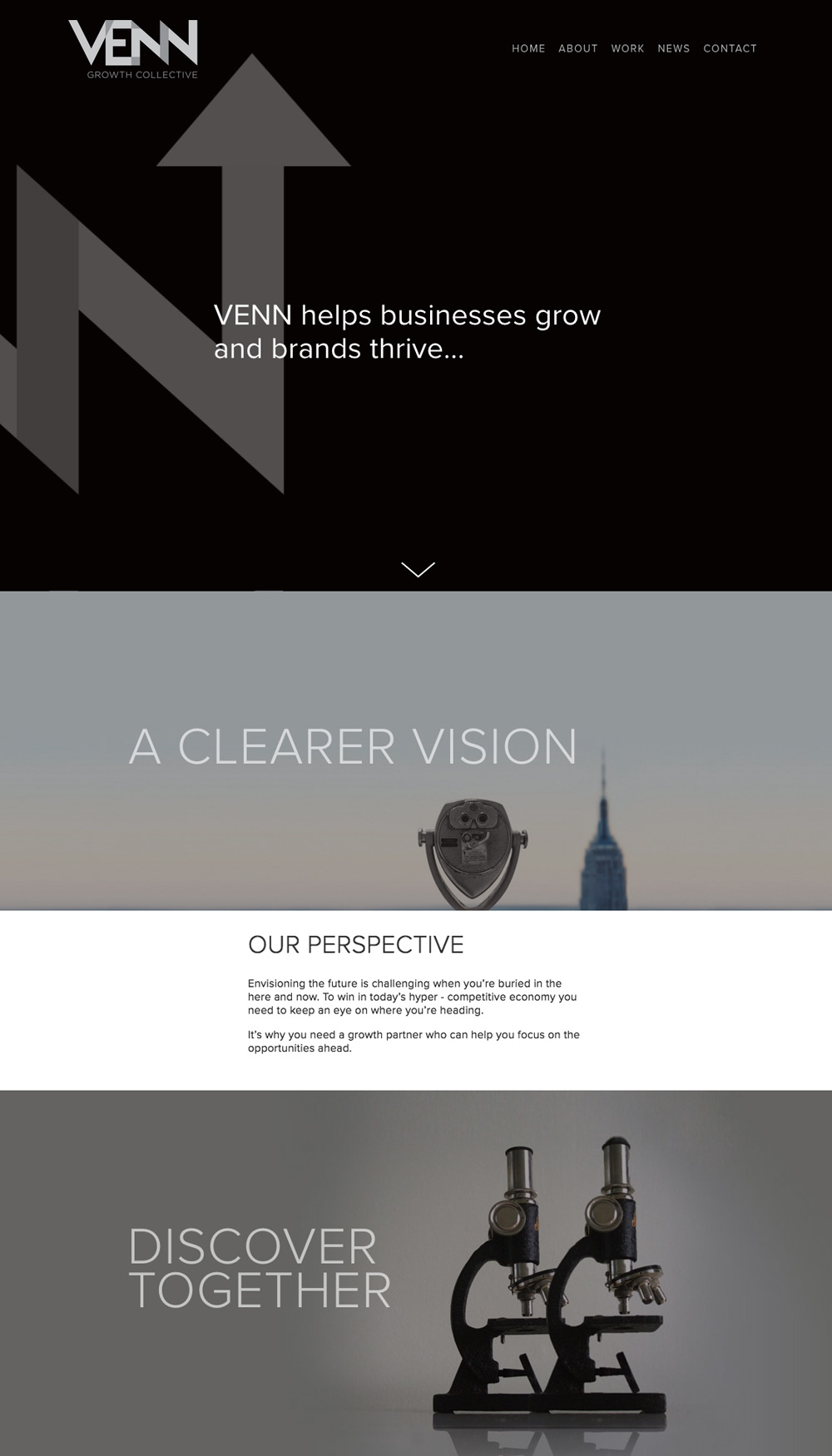venn growth homepage by Columbus SEO firm Sevell