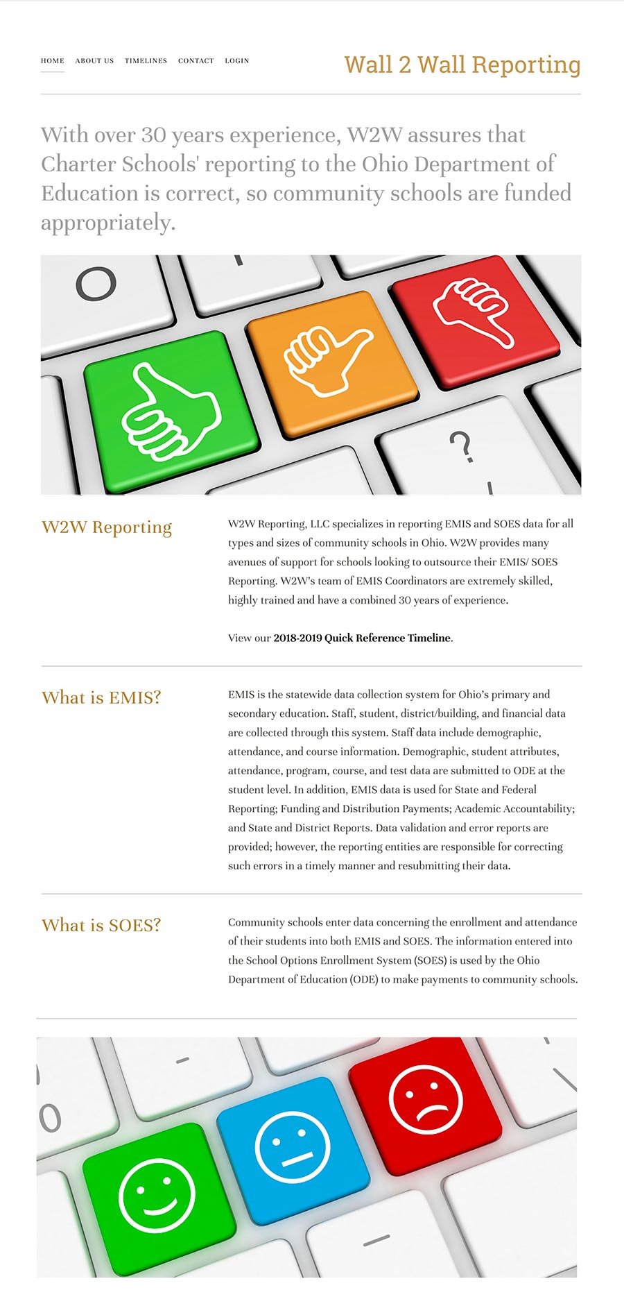 wall2wall reporting homepage