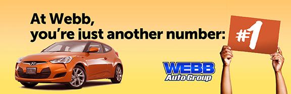 billboard for webb auto group