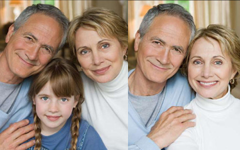 grandparents with and without their grandkid