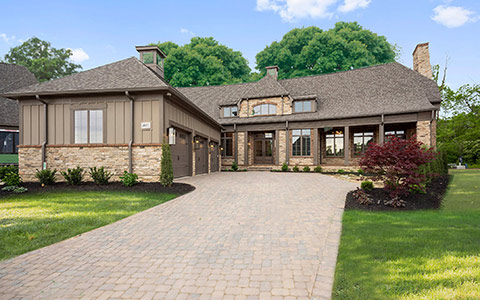 Exterior of custom home on website by home builder web designer