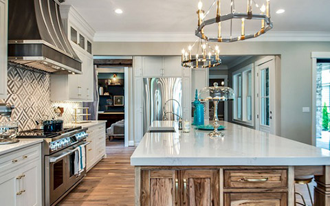 kitchen from custom home builder website