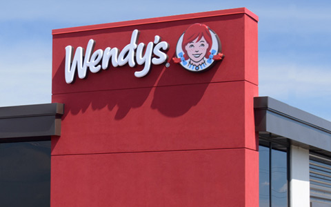 Wendy's exterior from Columbus web designer's homepage for an association