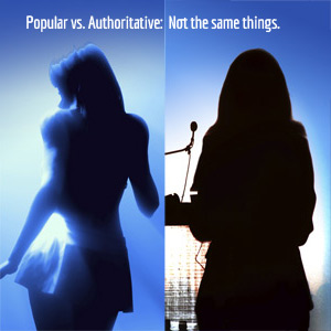 Columbus web design showing a popular person vs authoritative person