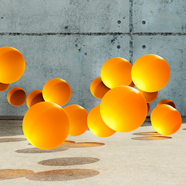 bounce rate for website represented by bouncing balls