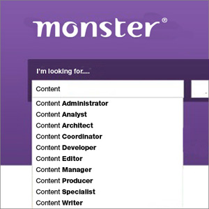 Columbus web design firm shows the content creator jobs on Monster.com