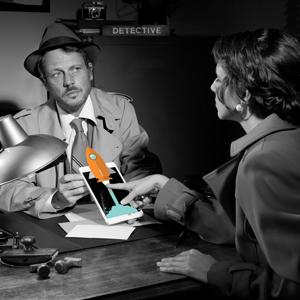 detective interrogating a Columbus website design firm