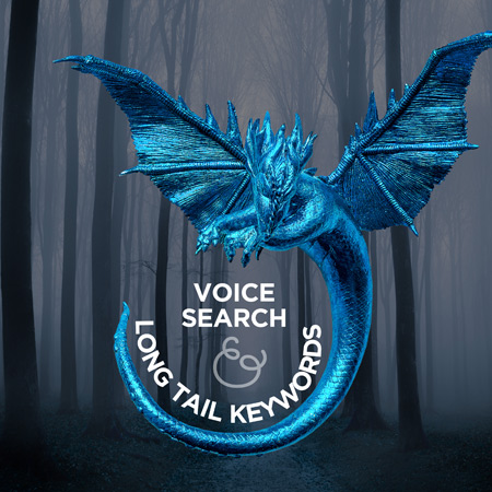dragon wrapping around the words long tail keywords