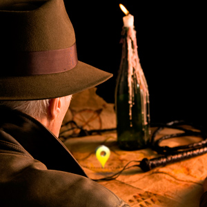 Indiana Jones and map by Columbus Oh website design firm Sevell