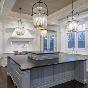kitchen of luxury home from website by Columbus website design firm Sevell