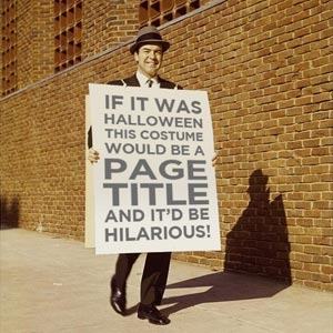 Man with old time sandwich sign for Columbus SEO agency Sevell