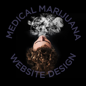 medical marijuana website design smoker from above