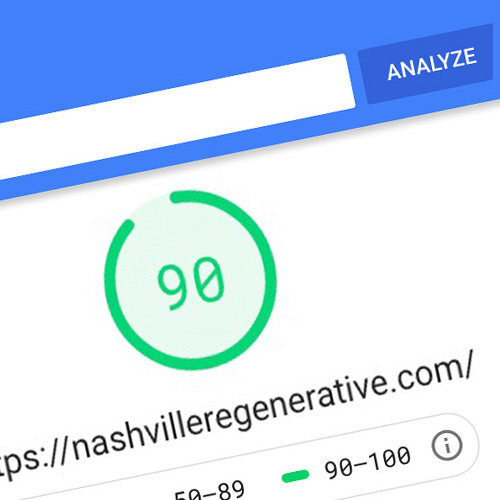 Columbus web design company shows speed boost rating