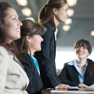 Columbus Ohio web design firm shows example of a good stock photo of women meeting