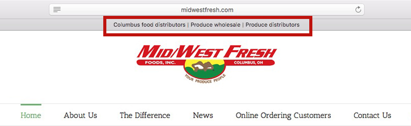 page title for midwest fresh homepage