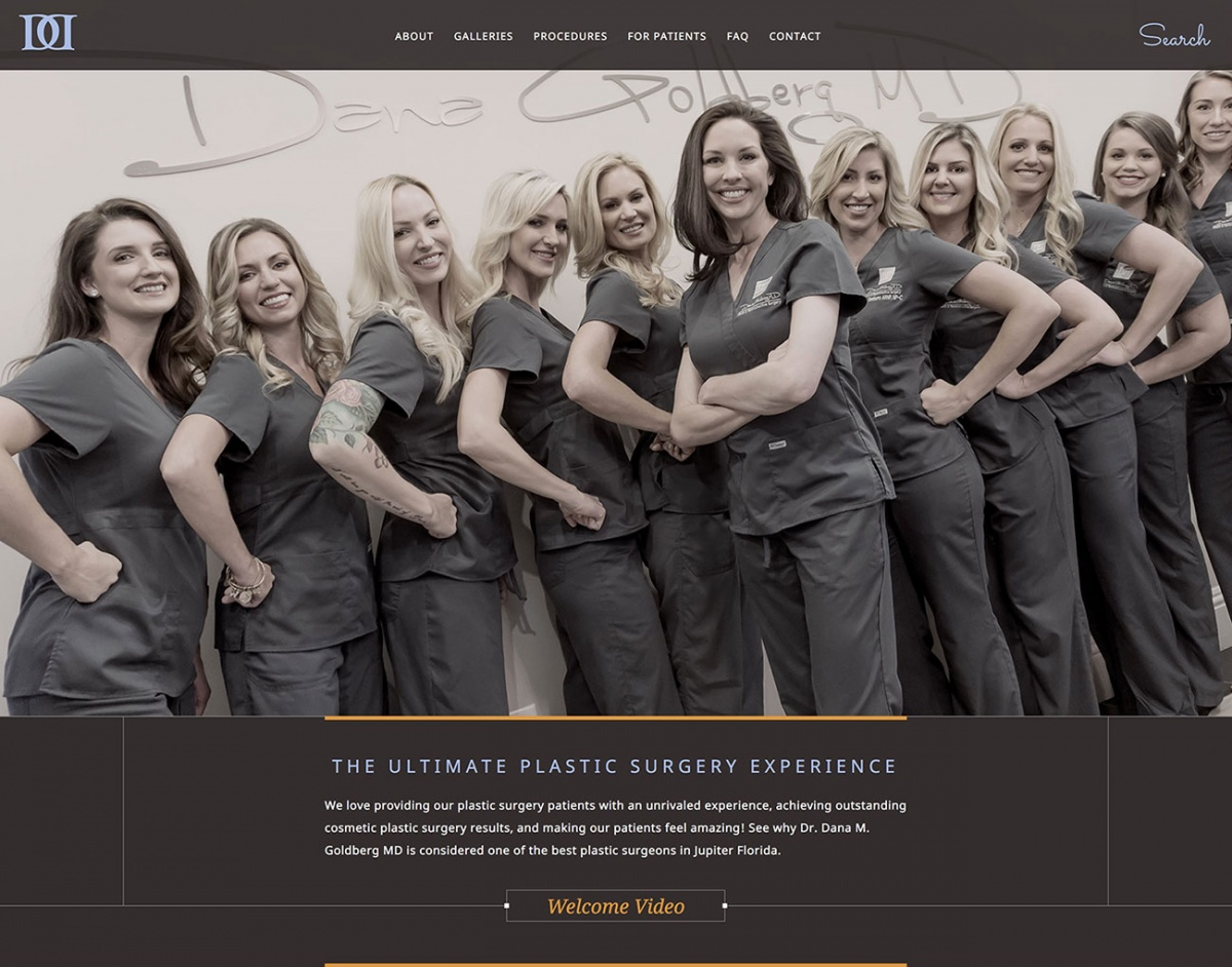 Dr. Dana's Website Homepage Redesign