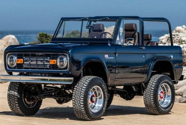restored 1974 classic ford bronco