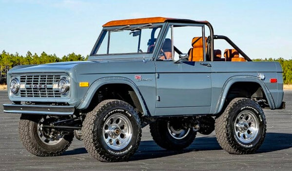 restored late 1960s Ford Bronco