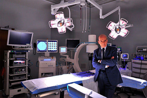 Dr Sayegh in one of his two operating rooms