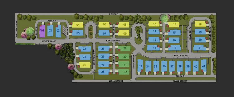 screen shot of site map of Coffman Park community