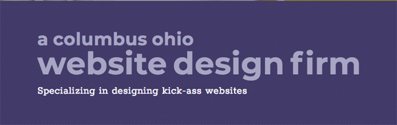 screenshot of the words a Columbus Ohio website design firm