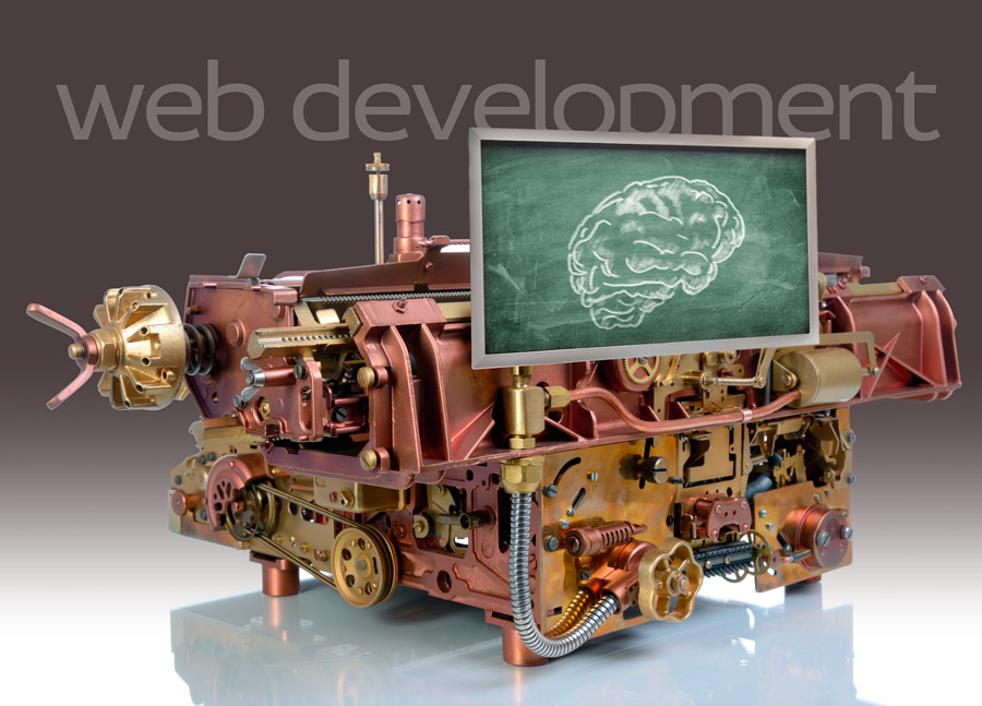 Columbus web development firm showing steam punk verison of website